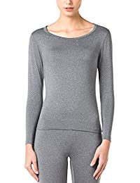 2ffdc6826a37 Women s Lightweight Thermal Underwear Top Fleece Lined Base Layer Long  Sleeve Shirt L15