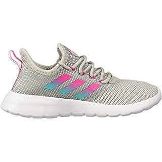 adidas Women's LITE Racer RBN Running Shoe, Grey/Shock Pink/Hi-Res Aqua, 8.5 Medium US