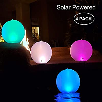 ¡CHOLLO! Pack de 4 luces LED solares para jardín o piscina