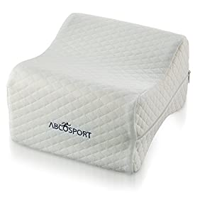 Knee Pillow - Ideal Choice for Hip, Back, Leg, Knee Pain, Side Sleepers, Pregnancy & Right Spine Alignment - Premium Comfortable Memory Foam Wedge Contour with Washable Cover & Storage Bag