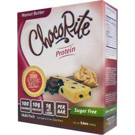 HealthSmart Foods Inc ChocoRite Protein Peanut Butter Sugar Free 5 Bars 32 g (Doctors Carbrite Diet)