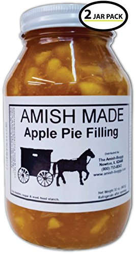 Amish Pie Filling Apple - 2 Jars- 32 Oz