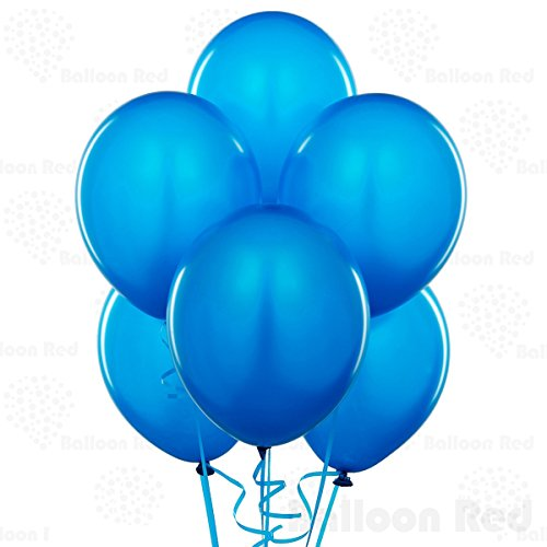 10 Inch Latex Balloons (Premium Helium Quality), Pack of 144, Blue
