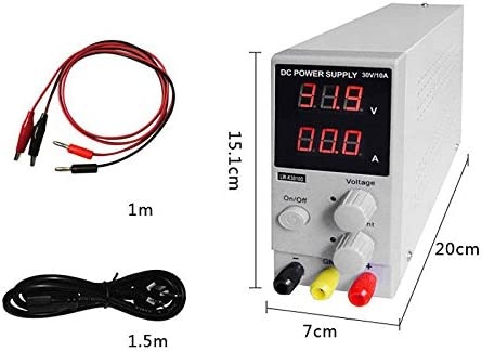 0-30 V 0-10 A DC Power Supply Adjustable iMeshbean LCD DC Power Supply Adjustable Precision Variable Digital Lab