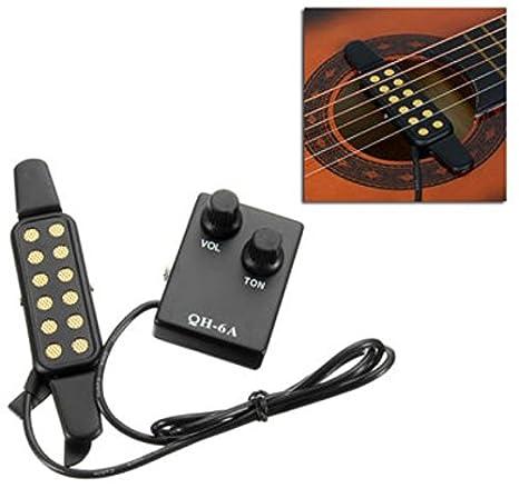 QH-6 A sonido agujero sintonizador preamplificador EQ Ecualizador pastilla magnética para guitarra acústica de greenmarkets: Amazon.es: Instrumentos ...
