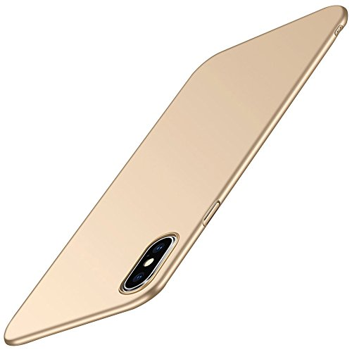 Case for iPhone Xs Max,Ultra Slim Hard PC Bumper Full-Body Protective Cover for Apple iPhone XR (Gold, iPhone XR)