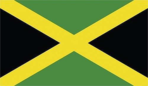 JMM Industries Jamaica Flag Vinyl Decal Sticker Jamaican Car Window Bumper 5-Inches by 3-Inches Premium Quality UV Resistant Laminate PDS014