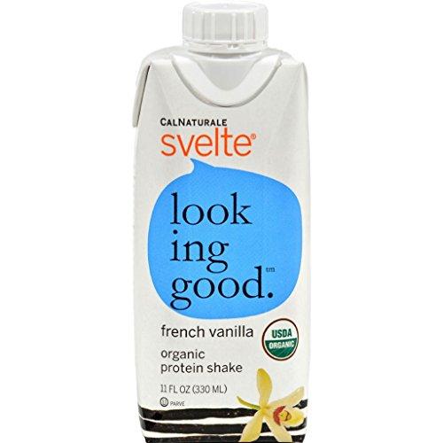 Svelte Protein Shake Organic French Vanilla 11 oz Case of 8