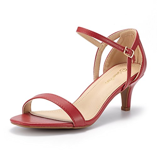 - DREAM PAIRS Women's LEXII Red Pu Fashion Stilettos Open Toe Pump Heel Sandals Size 8 B(M) US
