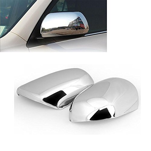 Pair Triple Chrome Side Rearview Mirror Cover Trims Fit for 2008-2013 Toyota Highlander/2011-2015 Sienna