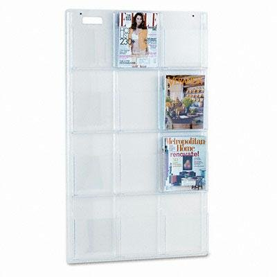 Safco - Reveal Clear Literature Displays 12 Compartments 30W X 2D X 49H Clear ''Product Category: Office Furniture/Display Racks & Cases'' by Original Equipment Manufacture (Image #1)