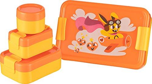 Haushaltsdose Frischhaltedose Mini-Lunchbox 4er Set 1x100ml, 1x200ml, 1x420ml, 1x1,4l orange
