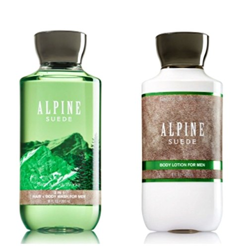 BATH AND BODY WORKS,ALPINE SUEDE GIFT SET ,LOTION,BODY WASH.