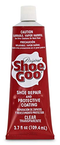 Shoe Goo Repair Adhesive for Fixing Worn Shoes or Boots, Clear, 3.7-Ounce Tube (Skate Shoe Glue)