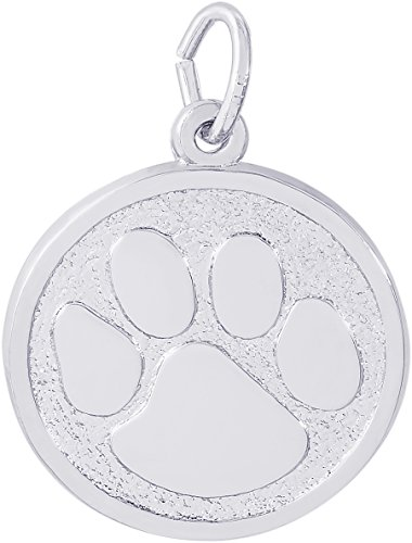 - Rembrandt Sterling Silver Paw Print Charm (19 x 19 mm)