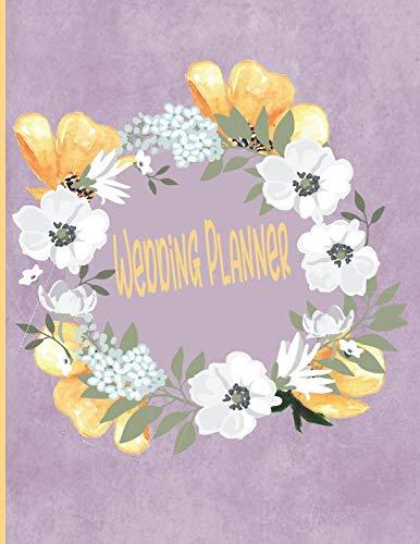 Wedding Planner: Pretty Floral Bride Wedding Planner Organizer 8.5