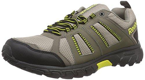 Reebok Dmxride Comfort RS 3.0, Zapatillas de Deporte Para Hombre Marrón / Amarillo / Negro (Beach Stn/Cliff Stn/Coal/Blk/Ylw Spark)