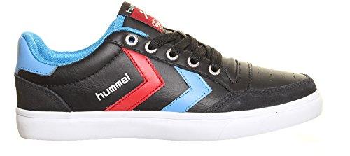 Hummel - Zapatillas de cuero para mujer, color negro, talla 39.5