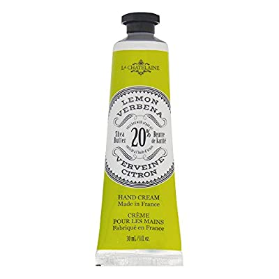 La Chatelaine 20% Shea Butter Lemon Verbena Hand Cream + French Soap in a Tin Set, Moisturizing, Nourishing, Made in France, Travel Size Hand Lotion 1 fl oz, Natural Triple Milled Bar (100 g)