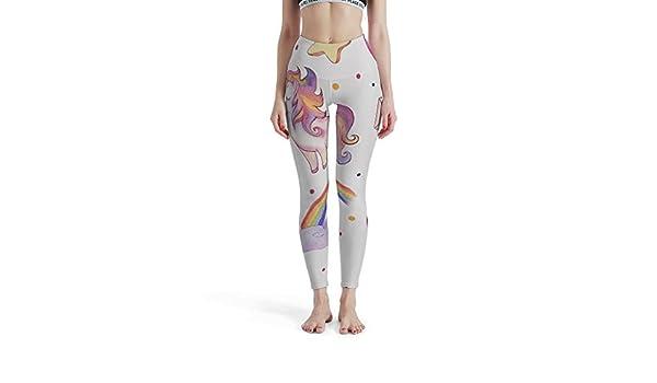 Mallas Para Gimnasio Arcoiris Bonitos Unicornios Gatos Deporte Pantalones De Yoga Estampados Para Nina Rqppy Entrenamiento Ropa Ropa Especializada