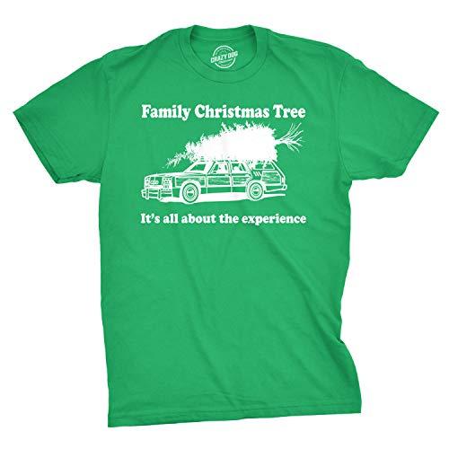 Family Christmas Tree T Shirt Funny Vacation Movie Tee (Green) - M ()