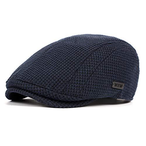 LANLEO Men's Newsboy Hat Cotton Gatsby Flat Ivy Driving Golf Cap ()