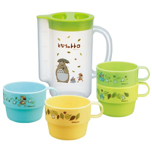 My Neighbor Totoro Design 4pcs Stacking Plastic Cups and a Pitcher for Storage by Totoro
