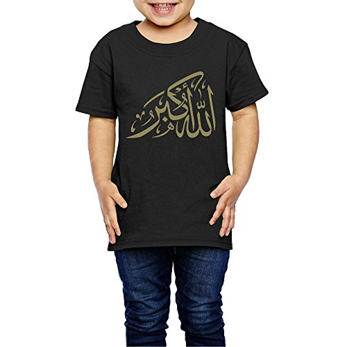 AK79 Children 2-6 Years Old Boys And Girls Tee God Is Great Black Size 2 -