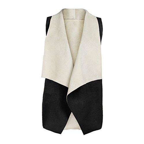 Fur Sweater Vest (Clearance!!! MOSE Fashion Women Winter Fox Fur Gilet Jacket Vest Top (Black, L))