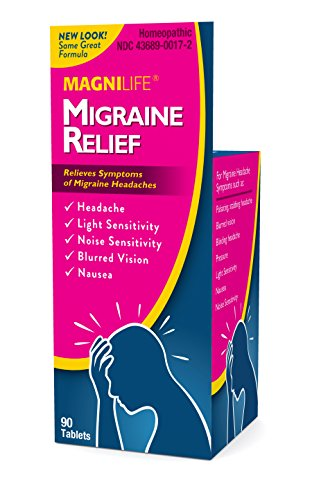 MagniLife Migraine Pain, Headaches, Throbbing, Stabbing, Nausea, Pressure Discomfort Relief Treatments (90 ()