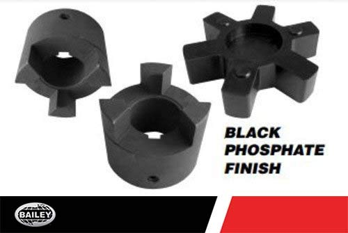 Jaw Couplers L-095 Series: HP 11 @ 3600 RPM 1/'/' LTB 3//4/'/' Inner Diameter 1//2 Spider Thickness I.D. Black Phosphate Finish 235123 O.D. 2 1//8/'/' Outer Diameter 3//16/'/' Keyway