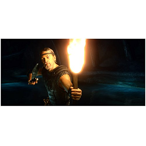 Beowulf (2007) 8 inch x 10 inch PHOTOGRAPH Ray Winstone Torch in Left Hand Lighting the Way Sword in Right Hand -