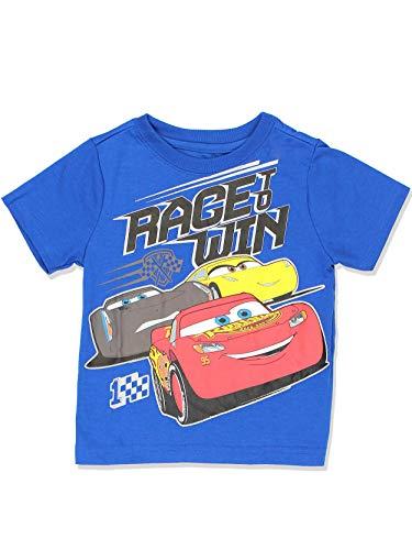 Disney Cars 3 Boys Short Sleeve Tee (5T, Win -