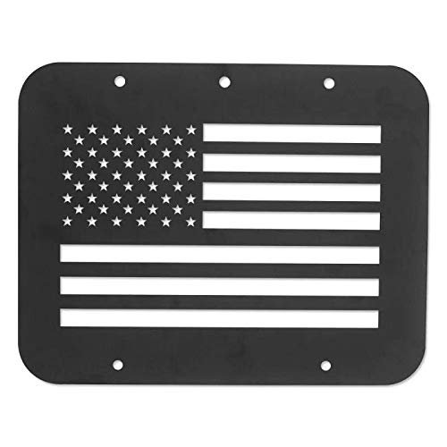 BESKE Spare Tire Delete Plate The tailgate fittings venting cover Tailgate Vent-Plate Cover//Spare Tire Carrier Delete Suitable for 97-06 Jeep Wrangler TJ US Flag