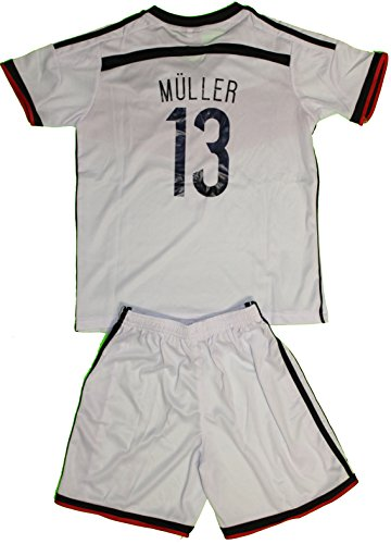 2014 Thomas Muller Germany Home Futbol Football Soccer Jersey & Short (1-2 YEARS)