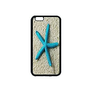 Blue Starfish Silicone Rubber Non-slip Protective Cover Case Skin For iPhone 6 With 4.7