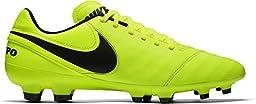 Nike Men\'s Tiempo Genio II Leather FG Soccer Cleat (Sz. 7) Volt