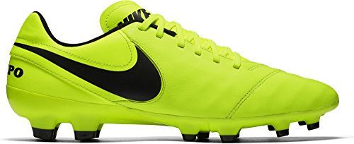 II Volt Men's NIKE Leather FG volt Boots Football Black Yellow Tiempo Genio HZnnxtAq