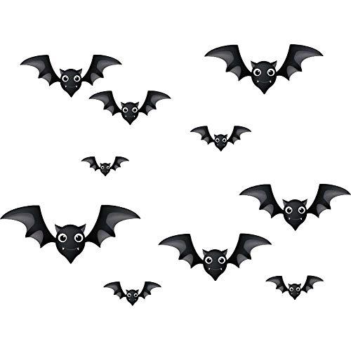 iwallsticker DIY Halloween Party Supplies PVC 3D Decorative Scary Bats Wall Decal Wall Sticker, Halloween Eve Decor Home Window Decoration