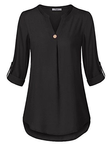 juniors black dress shirt - 3
