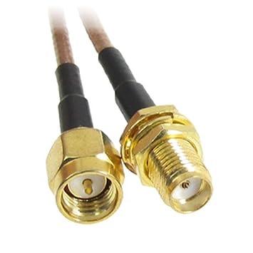 eDealMax 12,4 SMA Macho a hembra de SMA Cable Pigtail Coaxial RF Coaxial
