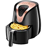 Tidylife 3.4L Air Fryer, 8-in-1 Oil Free 7 Presets Touchscreen Hot Air Fryer Oven, Auto Shut Off & 0-60 Mins Timer, 180-400 ℉,1500W, Dishwasher Safe (Over 32 Recipes)