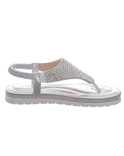 SheLikes Damen Sling Backs Silber
