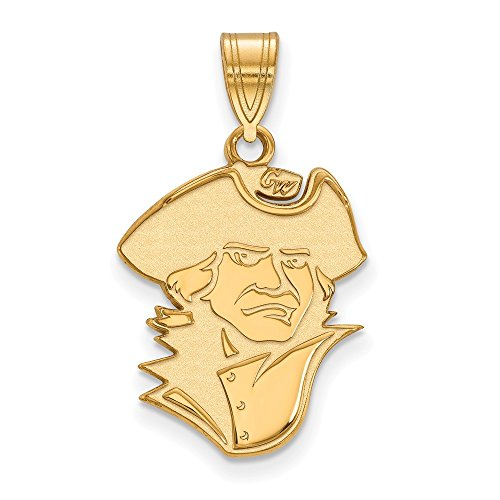 Jewelry Stores Network George Washington University Colonials School Mascot Pendant Gold Plated Silver L - (19 mm x 16 mm)