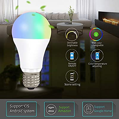 Btbtoc Element Classic Smart LED Light Bulb, RGBW, WiFi,16 Million Color CCT Adjustment Suit Alexa Google Home
