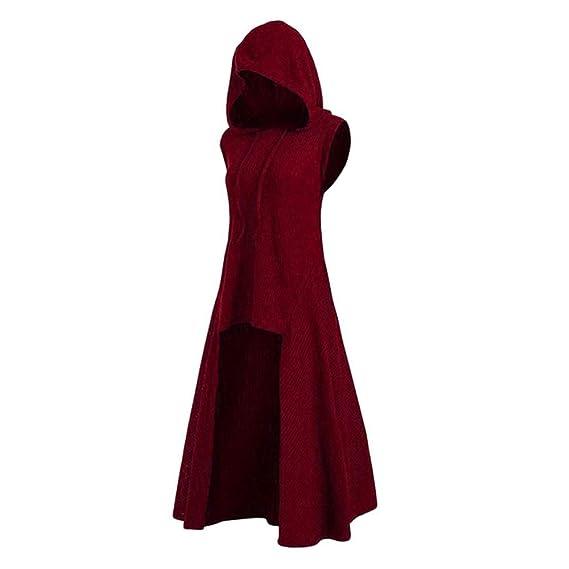 Luiyy Vestido de túnica De Halloween con Capucha de época ...