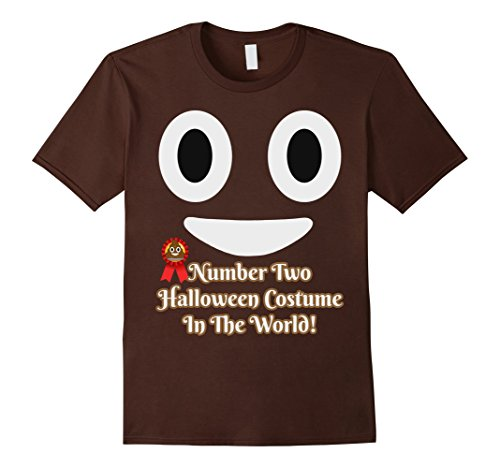 Mens Number Two Halloween Costume Funny Poop Pun Emoji T-Shirt Medium (Emoji 2 Halloween Costume)