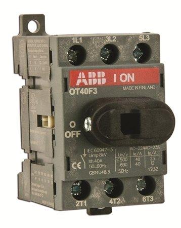 ABB OT40F3 Non-Fused Disconnect, 40 Amp, 3-Pole