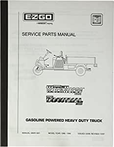 EZGO 28281G01 1996-1998 Service Parts Manual for Gas heavy Duty Truck