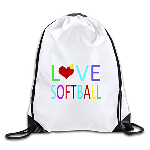 Hunson - Funny Love Softball Backpack Sack Bag Gym Bag For Men & Women Sackpack